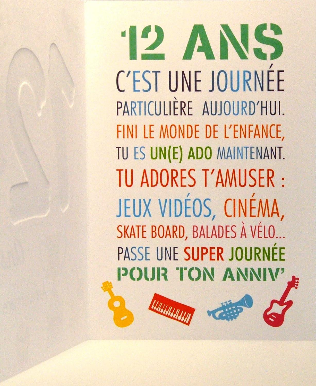 Texte D Anniversaire Pour Un Garcon De 12 Ans Texte Prefere