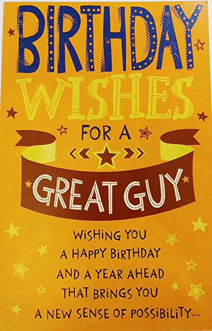 Amazon Birthday Wishes For A Great Guy Greeting Card