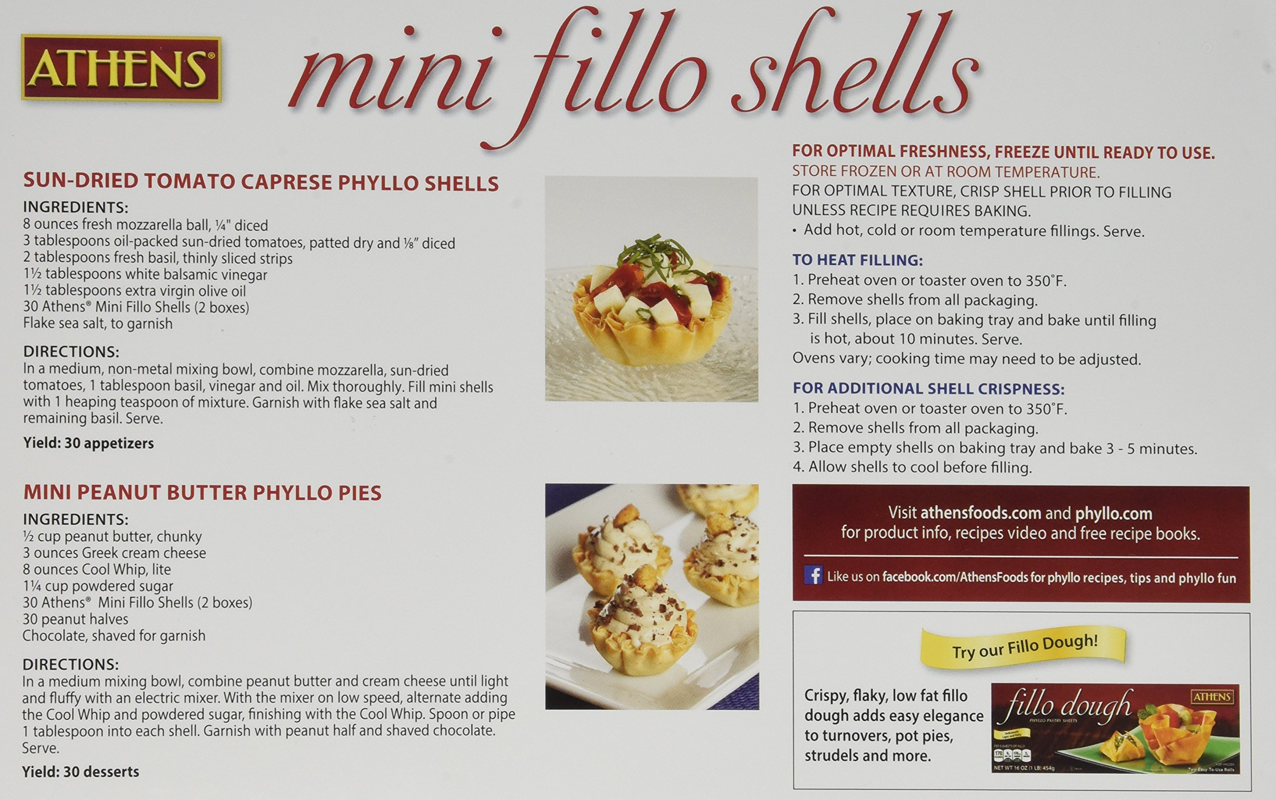 Athens Foods Mini Fillo Dough Shells 15 Per Box (3 Boxes) by Athens Foods (Image #4)