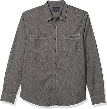 Lucky Brand Men's Long Sleeve Button Up Jaybird Workwear Shirt