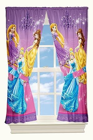 Disney Princesses Drapes Cinderella Glamour Window Curtains ...