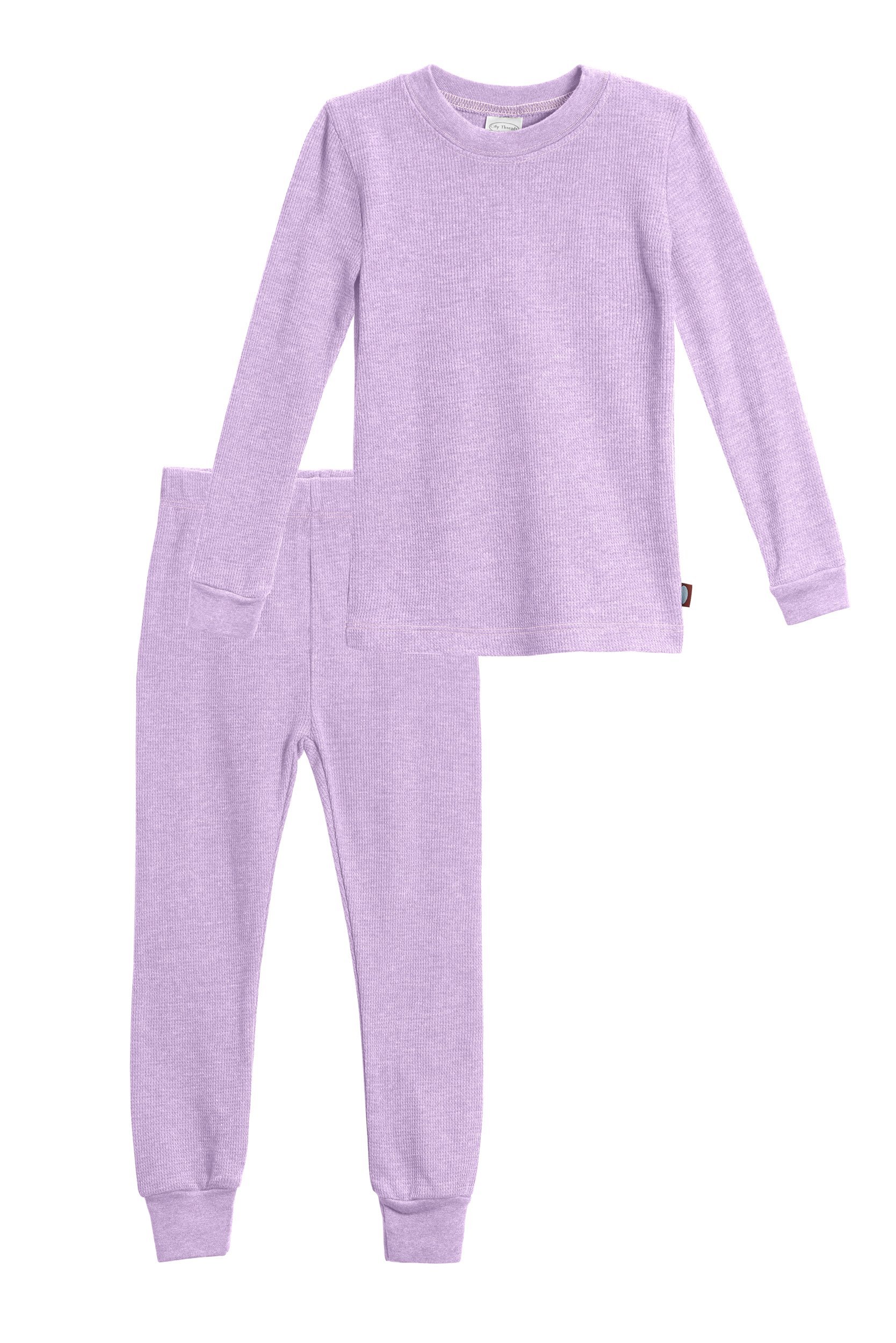 City Threads Baby Girls Thermal Underwear Set Perfect for Sensitive Skin SPD Sensory Friendly, Lavender- 12/18M by City Threads