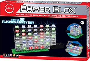 E-Blox Power Blox Builder - Flashing Frenzy Kit LED Light-Up Building Blocks Toys Set for Kids Ages 8+