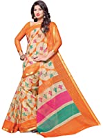 Miraan Women's Cotton Saree With Blouse Piece (Srh99_Multicolor)