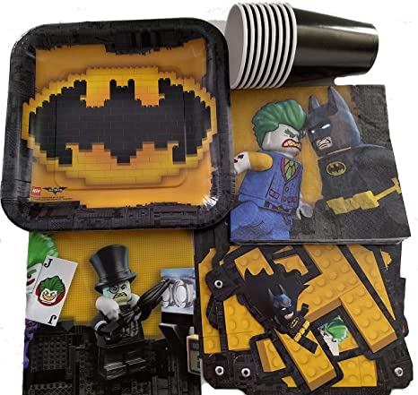 Amazon Com Super Bat Hero Birthday Party Supplies Pack For 8 Guests