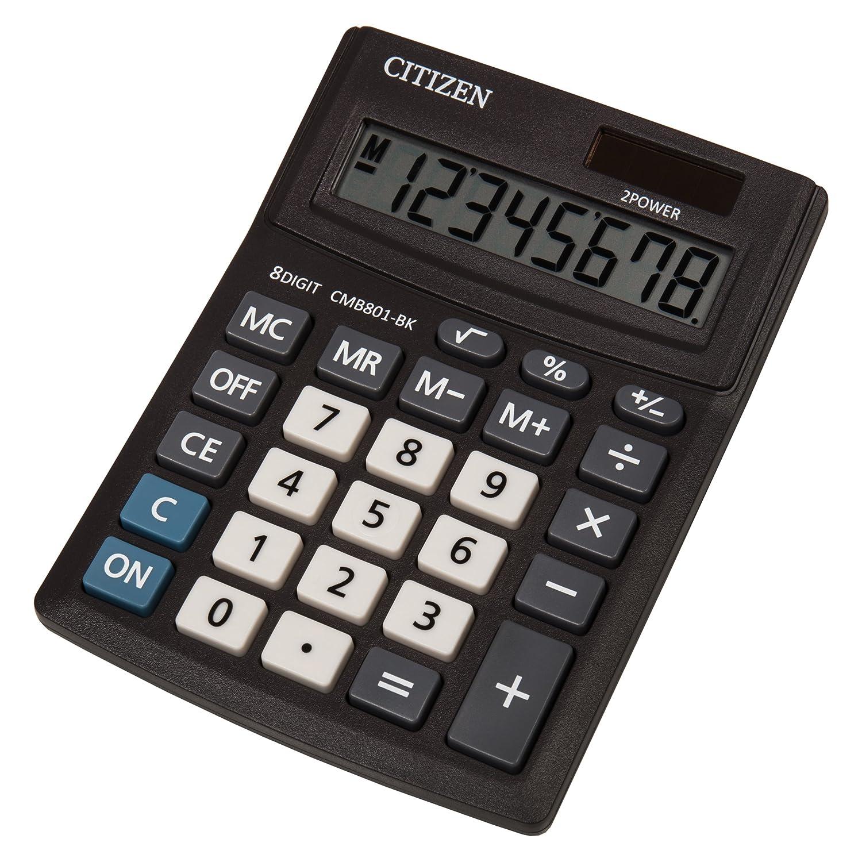 Genie 510 Taschenrechner LCD-Anzeige 8-stellig Dual-Power Solar//Batteriebetrieb