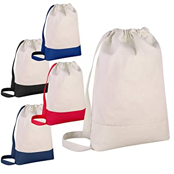 14ca34feb102 Pack of 12 - Durable Canvas Backpack Bags Two Tone Canvas Sport Promotional  Backpacks Bulk -