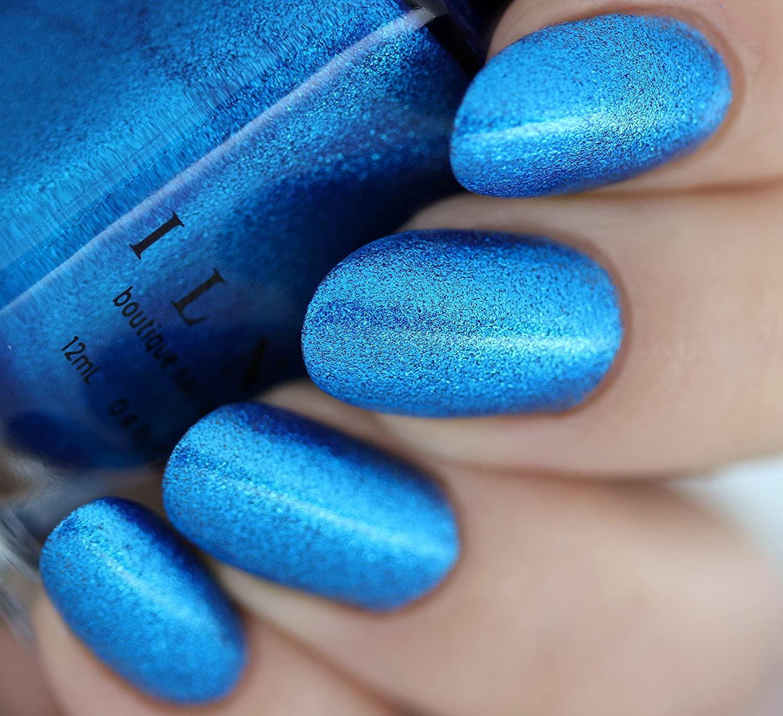 Amazon.com : ILNP Blueprint - Electric Blue Ultra Metallic Bright ...