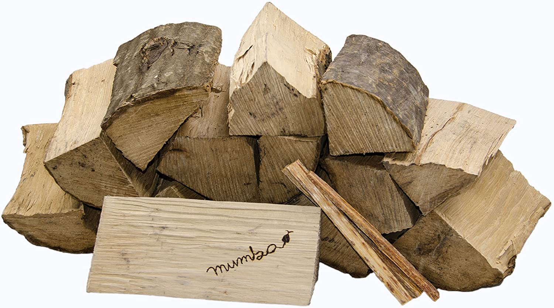 15 kg mumba Brennholz Kaminholz reine Buche ofenfertig kammergetrocknet in 25cm Länge + 3 Kg Anfeuerholz