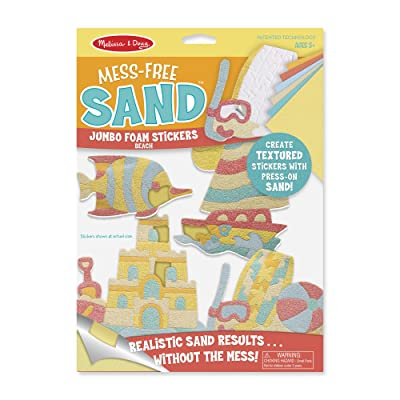 Melissa & Doug Mess-Free Sand Jumbo Foam Beach Stickers: Toys & Games [5Bkhe1102241]