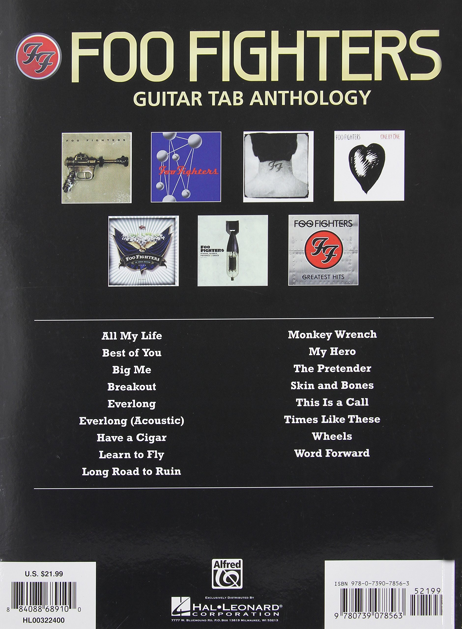 Foo Fighters Guitar Tab Anthology Authentic Guitar Tab Amazon