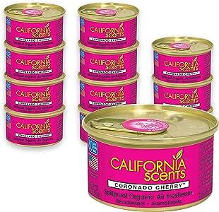 California Scents Car Scents Coche Aromas de Aire Ambientador - Coronado Cherry - 12 Unidades: Amazon.es: Coche y moto