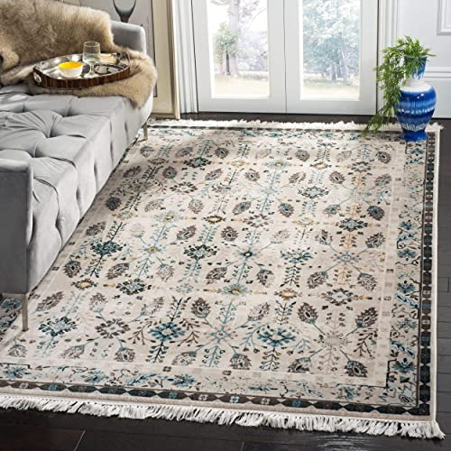 Safavieh Serenity Collection SER208D Cream and Turquoise Area Rug 8 x 10