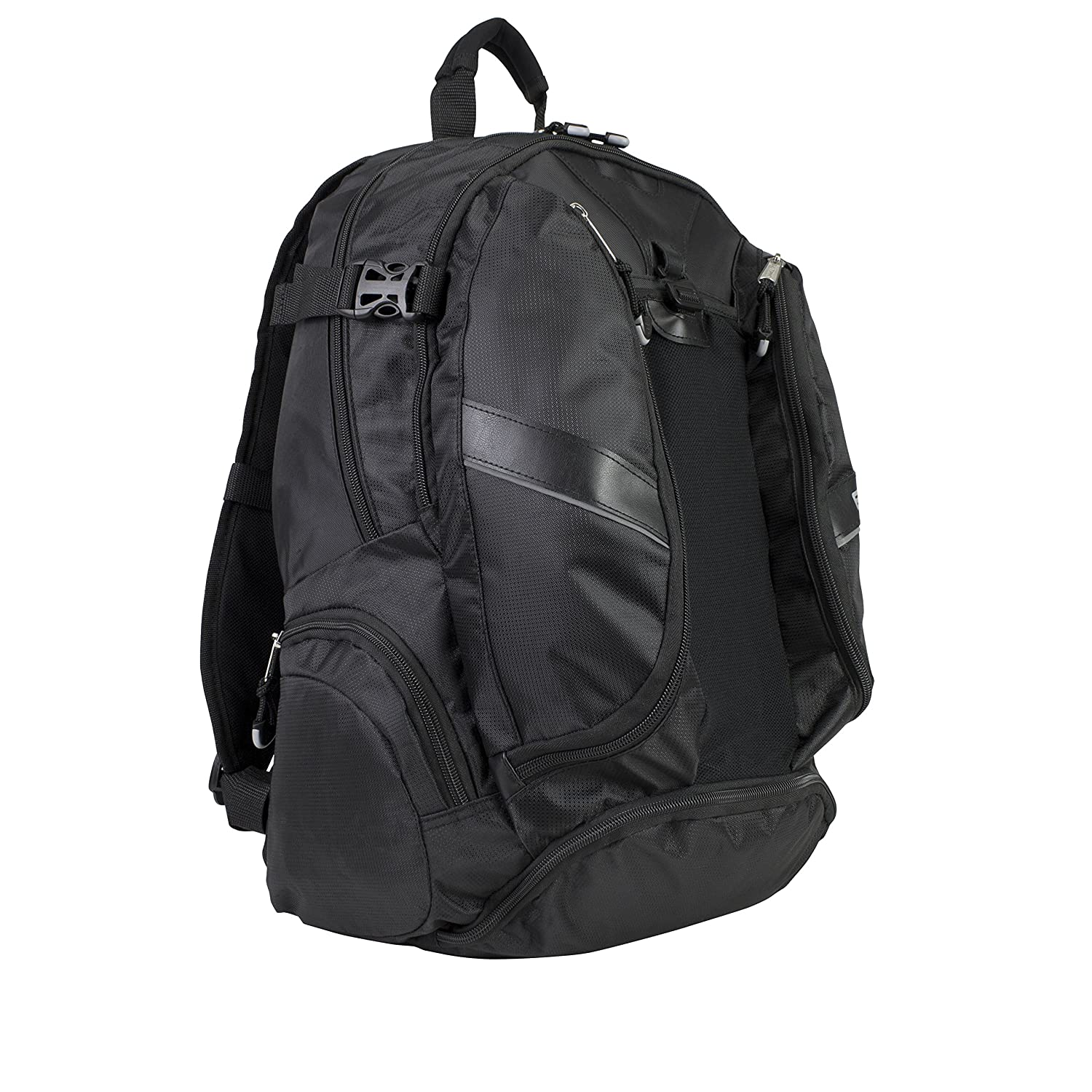 Eastsport Deluxe Mutli-Zip Backpack, Black