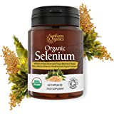 Organic Selenium 200mcg Iodine and Silica - Selenium contributes to normal Thyroid and Immune function – 2 Month Supply - Whole Food Supplement - Certified Organic by Soil Association