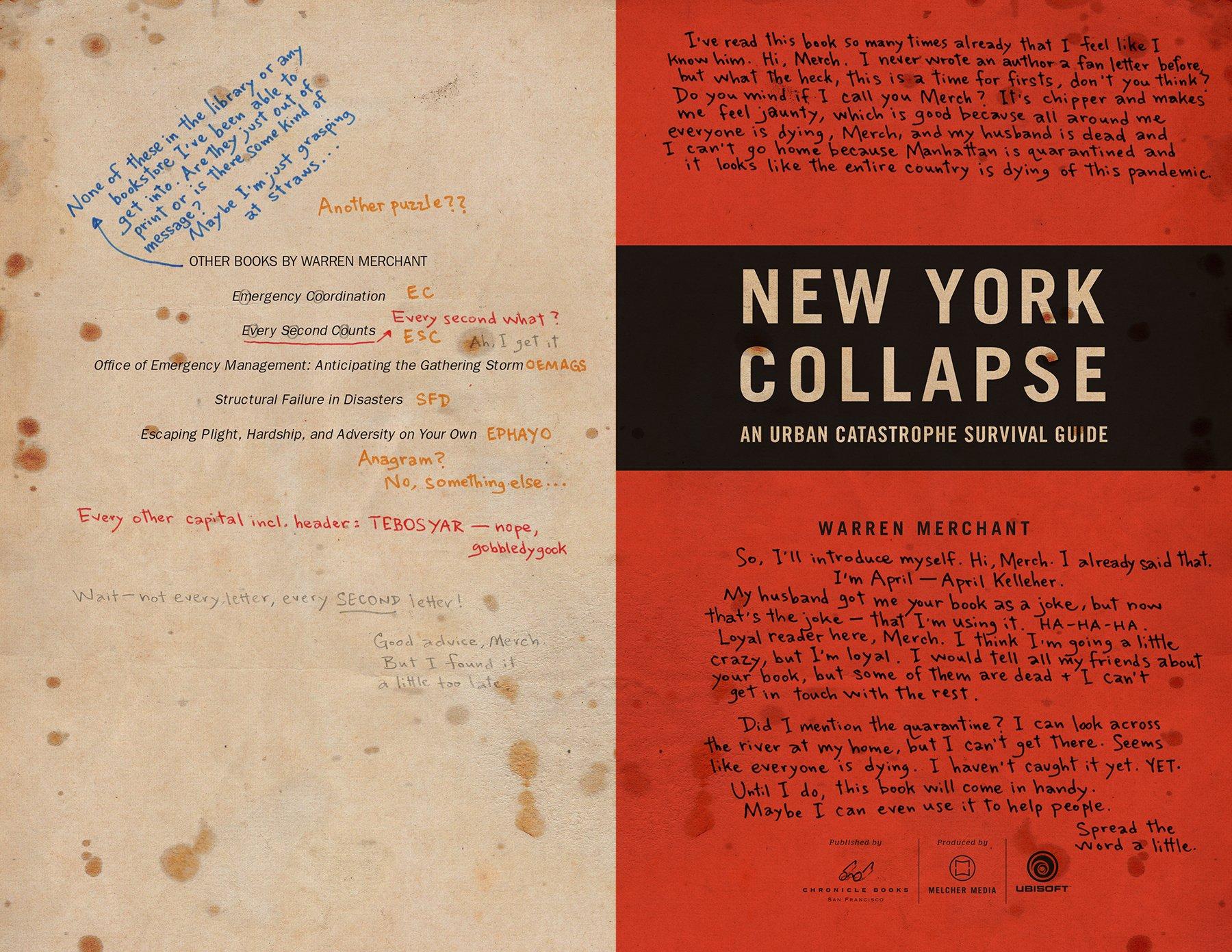 Amazon.com: Tom Clancy's The Division: New York Collapse (9781452148274):  Ubisoft, Melcher Media, Alex Irvine: Books