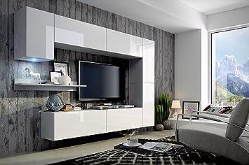 Future moderne wohnwand exklusive mediamöbel tv schrank neue