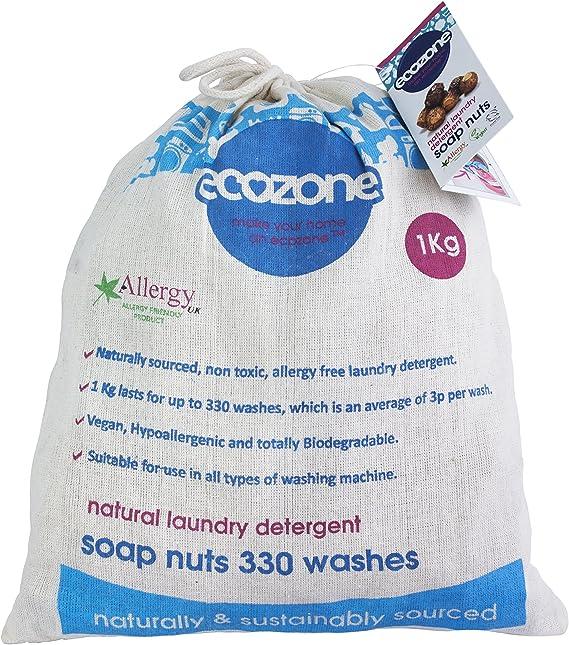Ecozone - Nueces de jabon para lavar la ropa (bolsa de 1 kg, hasta 330 lavados): Amazon.es: Alimentación y bebidas