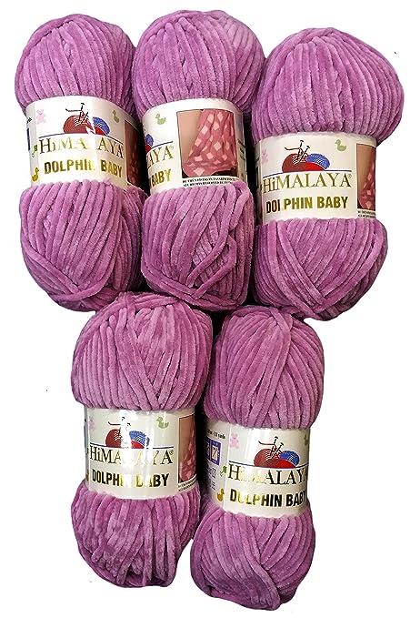 Set da 5 gomitoli da 100 grammi di lana da maglia Himalaya Dolphin ... 48dfda157cc2
