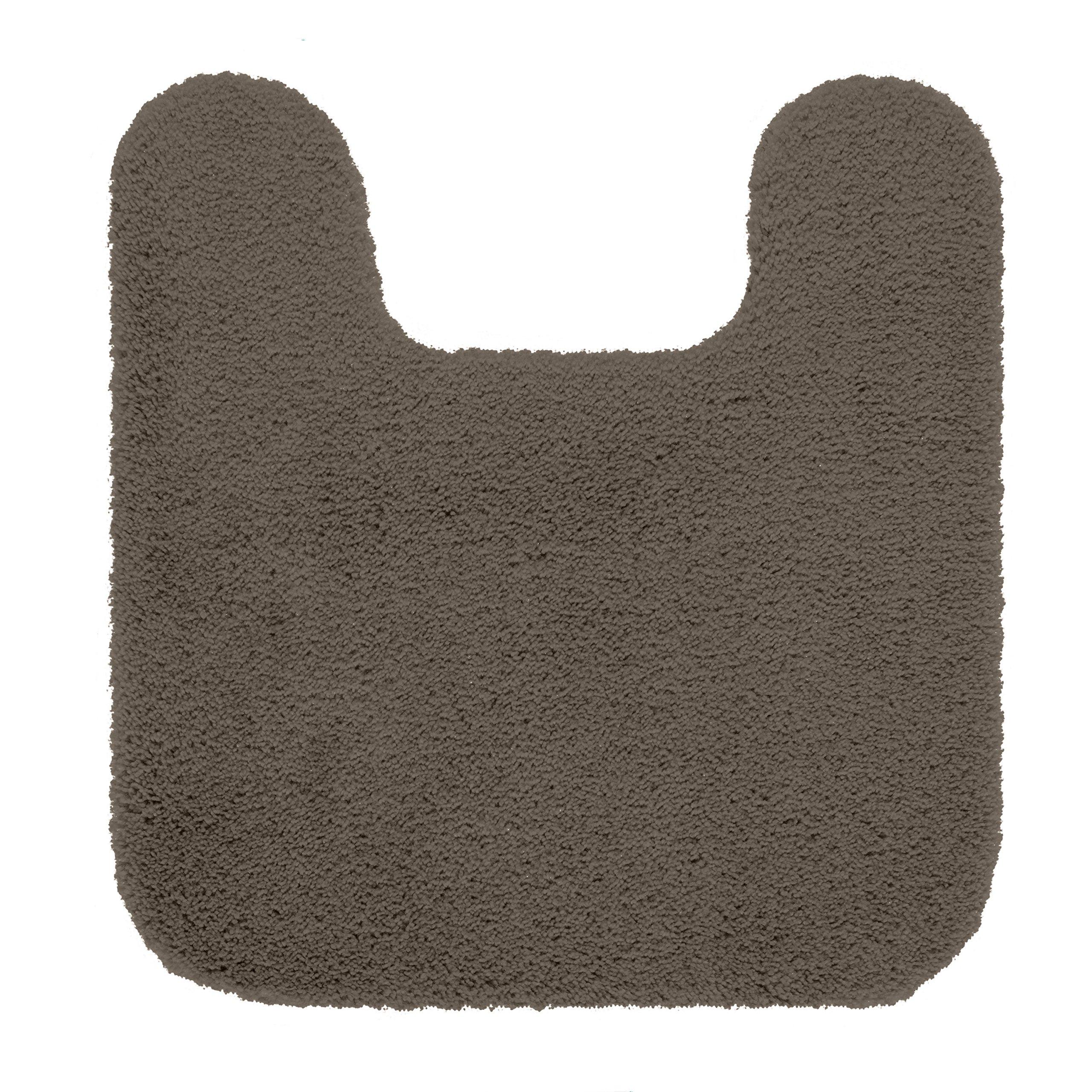 Maples Rugs Bathroom Rugs - Cloud Bath 20'' x 21.5'' Contour Non Slip Toilet Rug [Made in USA] Machine Washable Soft Bath Mat, Mocha Latte