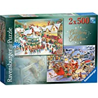 Ravensburger 15031 Collection No.1 Market & Santa's Christmas Supper 2X 500pc Jigsaw Puzzle,