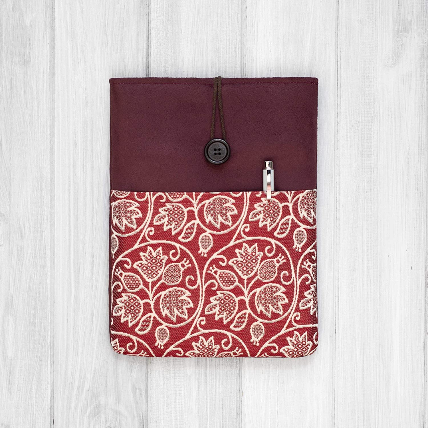 HOUSSE/étui/pochette pour tablette/iPad Pro 9.7 10.5 11 12.5 Mini and Air/Bordeaux/Rembourré