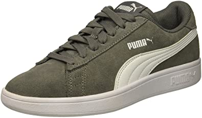 652aeeabac7e PUMA Unisex Smash V2 SD JR Sneaker Quiet Shade White