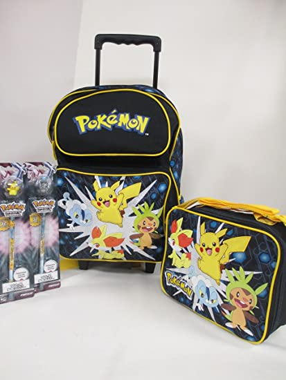 7d1ef8458a7 Image Unavailable. Image not available for. Color  Pokemon Large 16 quot  Rolling  Backpack Book Bag, Lunch ...