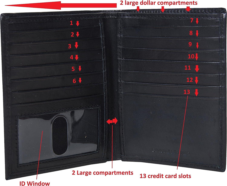 Amazon.com: RFID billetera de cuero con bloqueo para hombre ...