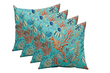Amazon Set Of 40 In Outdoor 40 Square Decorative Throw Pillows Mesmerizing Orange And Blue Decorative Pillows