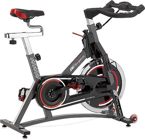 Jk Fitness 4150 Spin Bike Transmisión a Correa, Gris/Negro: Amazon ...