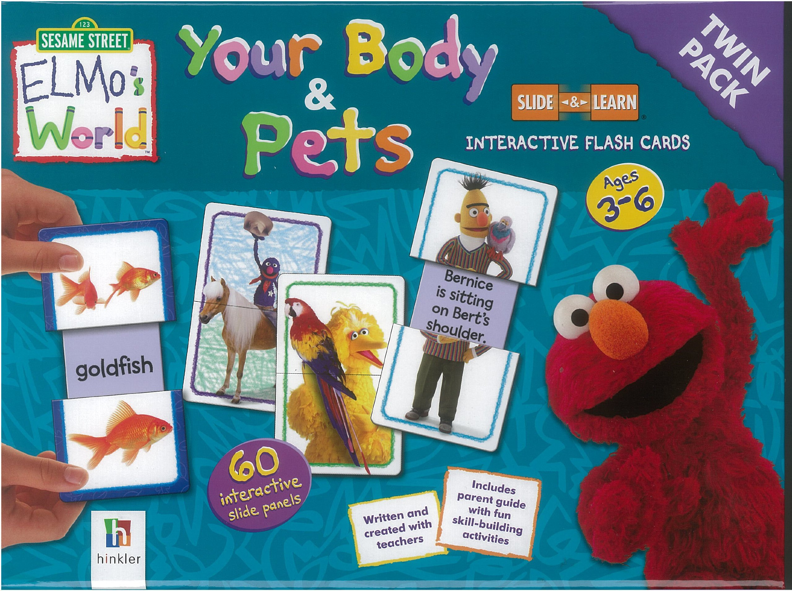 Elmo S World Your Body Pets Flashcards Twin Pack Hinkler