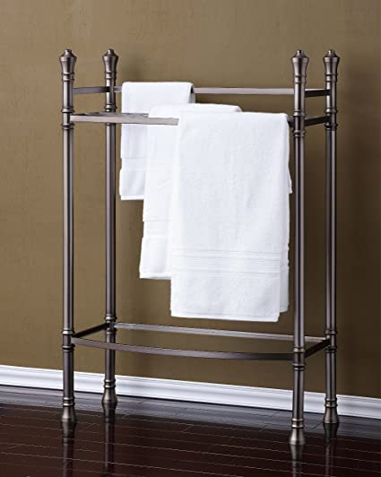 Amazoncom Best Living Monaco Towel Stand Brushed Titanium Home