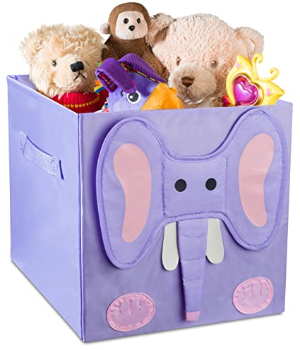 Kids Foldable Cube Storage Bins - These Decorative Animal Fabric Storage Cubes are Collapsible and Great  sc 1 st  Amazon.com & Amazon.com: Kids Foldable Cube Storage Bins - These Decorative ...