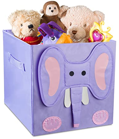 kids foldable cube storage bins these decorative animal fabric storage cubes are collapsible and great