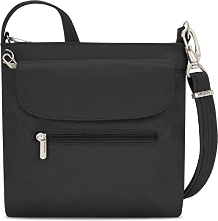 Amazon.com | Travelon Anti-Theft Classic Mini Shoulder Bag, Black, One Size  | Messenger Bags
