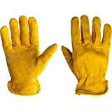 G & F 6203XL-3 Premium Genuine Grain Cowhide Leathers with Reinforced Patch Palm Work Gloves, Drivers Glove, 3-Pair…