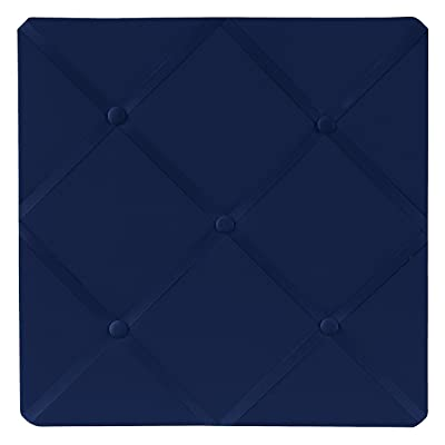 Navy Blue Fabric Memory/Memo Photo Bulletin Board: Baby