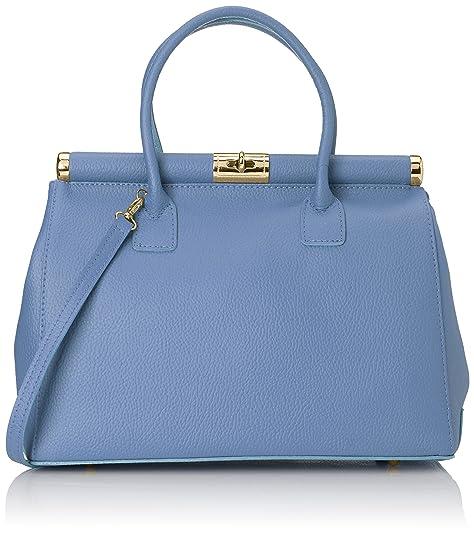 381e1b1795ee60 Chicca Borse 8005, Borsa a mano Donna, Azzurro, 35 cm: Amazon.it: Scarpe e  borse