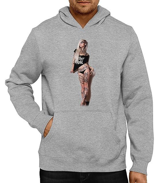 Rebel Girl sudadera con capucha para Gris gris Medium: Amazon.es: Ropa y accesorios
