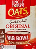 UNCLE TOBYS Oats Quick Sachets Original, Big Bow 30% Extral, 10 Sachets, 460g
