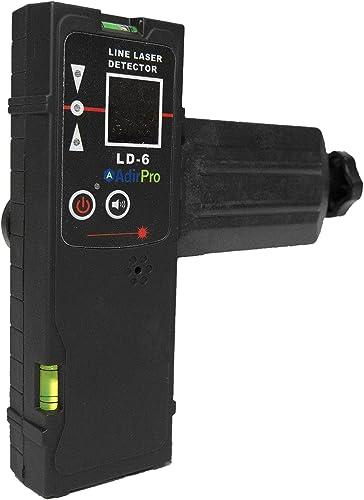 AdirPro LD-6 Universal Line Laser Detector with Rod Clamp, Black