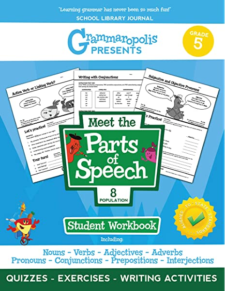 Grammaropolis: The Parts Of Speech Workbook, Grade 5 (Grammaropolis Grammar  Workbooks): Voorhees, Coert: 9781644420188: Amazon.com: Books