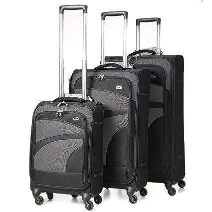 20f609b77255 Aerolite Super Lightweight 4 Wheel Spinner Suitcase Travel Trolley 3 Piece  Luggage Set, 21
