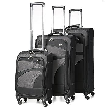 Aerolite Super Lightweight 4 Wheel Spinner Suitcase Travel Trolley ...