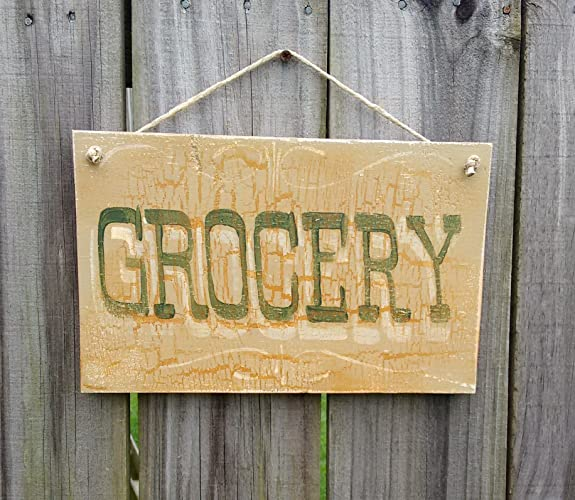 Amazon.com: Grocery sign country kitchen wall decor farmhouse chic ...
