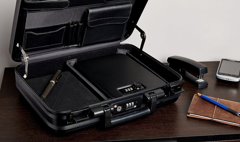 AmazonBasics Portable Security Case Lock Box Safe, Combination Lock, Large