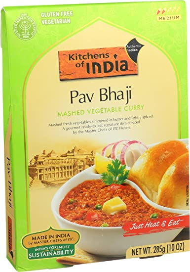 Kitchens Of India Ready To Eat Dish, Mashed Vegtable Curry (Pav Bhaji),