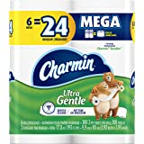 Charmin Ultra Gentle Toilet Paper 6 Mega Rolls (Pack of 3), Packaging May Vary