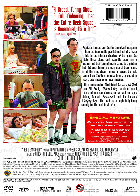 21b4e5a12bd Amazon.com  The Big Bang Theory  The Complete First Season